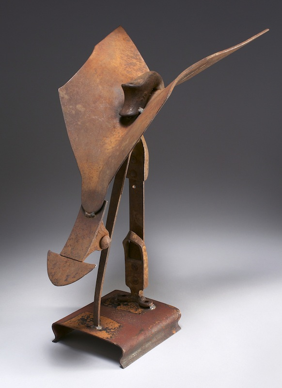 Sculpture by Carole Murphy - Iron Butterfly View 2